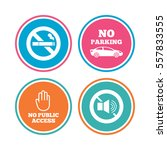 stop smoking and no sound signs.... | Shutterstock .eps vector #557833555