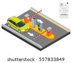 isometric parking payment... | Shutterstock .eps vector #557833849