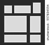blank postage stamps set on... | Shutterstock . vector #557834554
