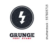 grunge post stamp. circle... | Shutterstock .eps vector #557835715