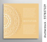 invitation or card template... | Shutterstock .eps vector #557837329