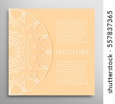 invitation or card template... | Shutterstock .eps vector #557837365