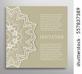 invitation or card template... | Shutterstock .eps vector #557837389