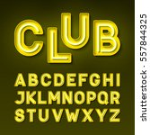 night club neon font  broadway... | Shutterstock .eps vector #557844325