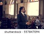 church people believe faith... | Shutterstock . vector #557847094