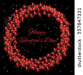 valentine s day background with ... | Shutterstock .eps vector #557847331