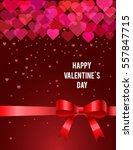 valentines day card. vector... | Shutterstock .eps vector #557847715