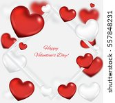 valentine's day background with ... | Shutterstock .eps vector #557848231
