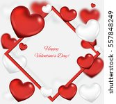 valentine's day background with ... | Shutterstock .eps vector #557848249