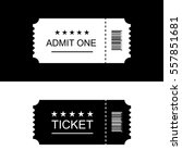 cinema ticket. vector... | Shutterstock .eps vector #557851681