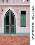 pink door and window | Shutterstock . vector #55786321