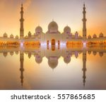 sheikh zayed grand mosque at...   Shutterstock . vector #557865685