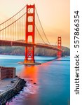 golden gate bridge in san... | Shutterstock . vector #557866354