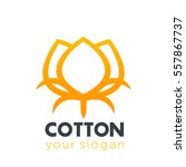 cotton icon  logo element over... | Shutterstock .eps vector #557867737