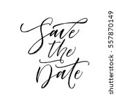 save the date postcard. wedding ... | Shutterstock .eps vector #557870149