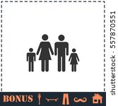 family icon flat. simple vector ... | Shutterstock .eps vector #557870551