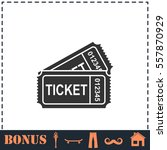 ticket icon flat. simple vector ... | Shutterstock .eps vector #557870929
