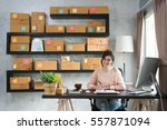 young entrepreneur  teenager... | Shutterstock . vector #557871094