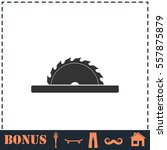 circular saw blades icon flat.... | Shutterstock .eps vector #557875879