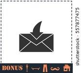 envelope icon flat. simple...
