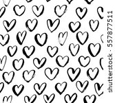 seamless pattern with hearts....   Shutterstock .eps vector #557877511