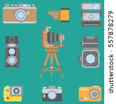 line flat color vector icon set ... | Shutterstock .eps vector #557878279