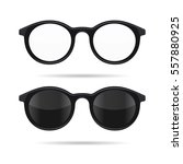 hipster glasses set.... | Shutterstock . vector #557880925