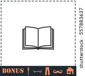open book icon flat. simple... | Shutterstock .eps vector #557883637