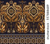 border indian floral paisley... | Shutterstock .eps vector #557888689