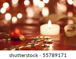 christmas decoration with... | Shutterstock . vector #55789171