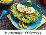 meal for children. colorful... | Shutterstock . vector #557899021
