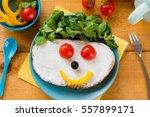 kids meal  breakfast or lunch...   Shutterstock . vector #557899171