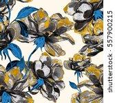 Stock photo watercolor rose seamless pattern 557900215