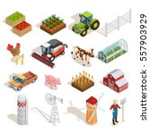 farm isometric icons collection ... | Shutterstock .eps vector #557903929