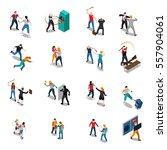 street hooligans isometric... | Shutterstock .eps vector #557904061