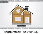 new private house vector... | Shutterstock .eps vector #557904337