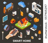 smart home best automatic... | Shutterstock .eps vector #557905297