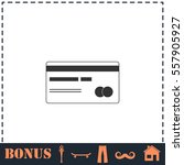 credit card icon flat. simple...