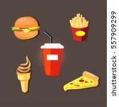 fast food | Shutterstock .eps vector #557909299