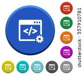 web development round color... | Shutterstock .eps vector #557910781