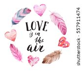 """love is in the air"" hand brush ... 