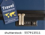 travel insurance label is put... | Shutterstock . vector #557913511