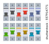 Color Circuit Breakers Set On...