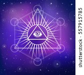 eye of providence. all seeing... | Shutterstock .eps vector #557915785