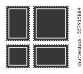 blank postage stamps set on... | Shutterstock . vector #557915884