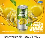 soft drink lemon flavor... | Shutterstock .eps vector #557917477