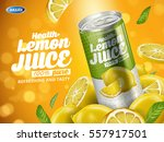 soft drink lemon flavor... | Shutterstock .eps vector #557917501