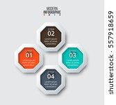 business data visualization.... | Shutterstock .eps vector #557918659