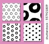 set of hand drawn seamless... | Shutterstock .eps vector #557921809