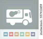 meat van icon concept | Shutterstock .eps vector #557922859